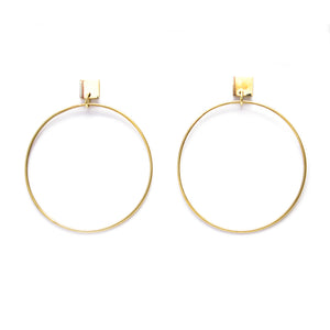 Artisans & Adventurers recycled, gold-toned brass classic hoop earrings