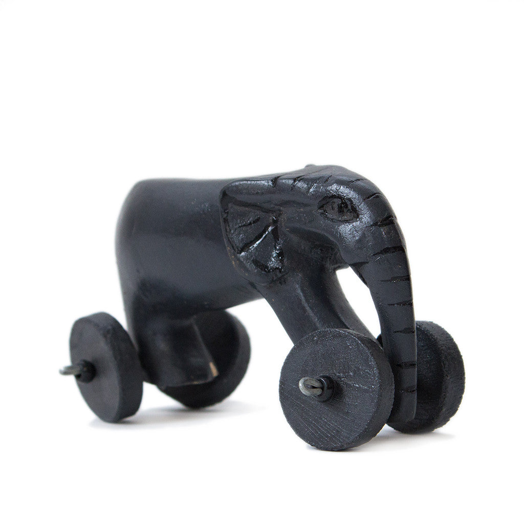 Wooden elephant childrens toy