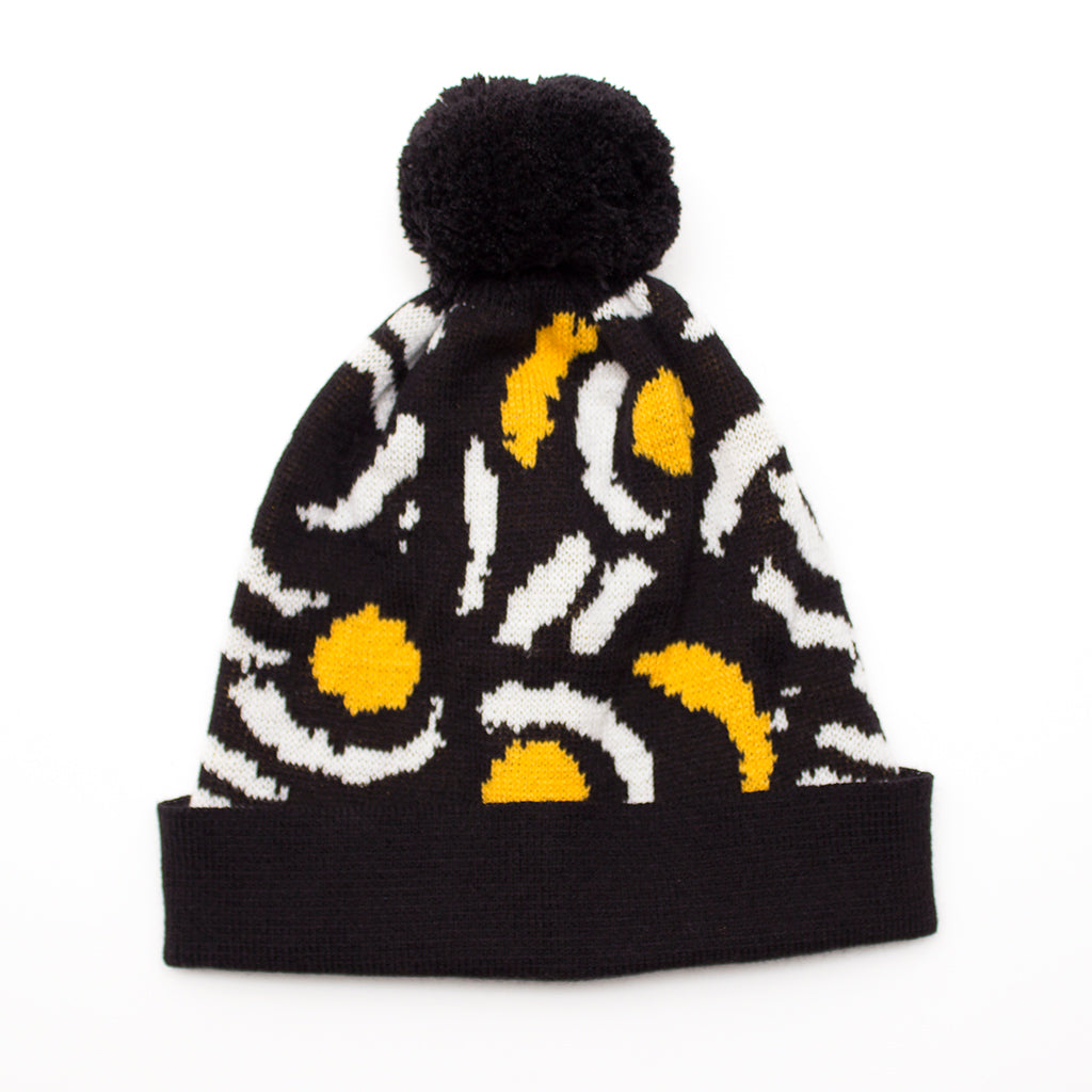 Knitted Bobble Hat 'Brushstroke'