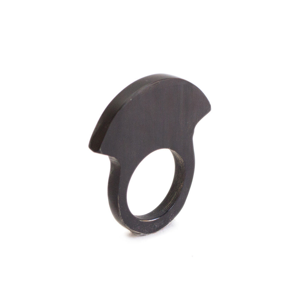 Horn Ring in Black by Artisans & Adventurers