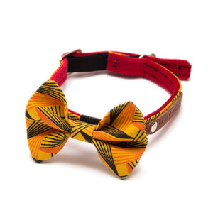 Hiro + Wolf Fireworks Pattern Cat Bow Tie Handmade Cat Accessories