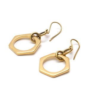 Artisans & Adventurers Gold-toned Brass Earrings, ethically made in Kenya