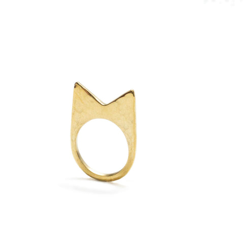 Ethical fashion mamba brass ring by Artisans & Adventurers
