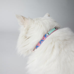 Hiro + Wolf Cat Collar with Silver Bell