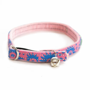 Hiro + Wolf Nebula Cat and Kitten Collar in Pink and Blue