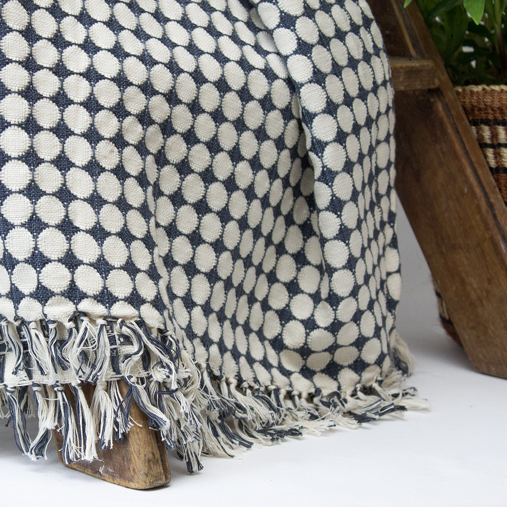 Tanzanian Hand woven Throw 'Monochrome'