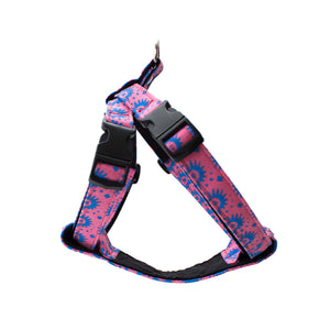 hiro and wolf pink dog harness
