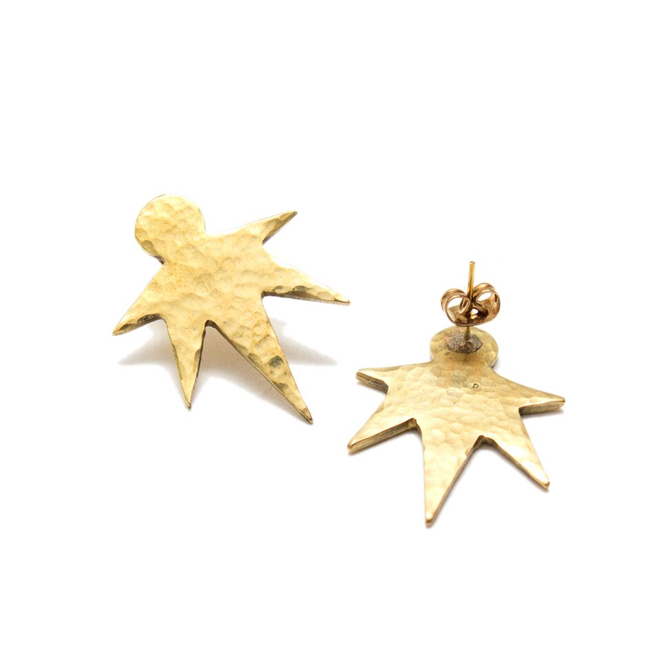Nova Stud Recycled Brass Earrings