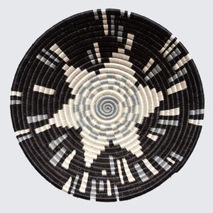 Rwandan Bowl Basket 'Black Shooting Star'