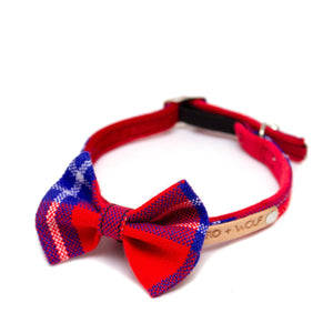 Shuka Red Cat Bow Tie