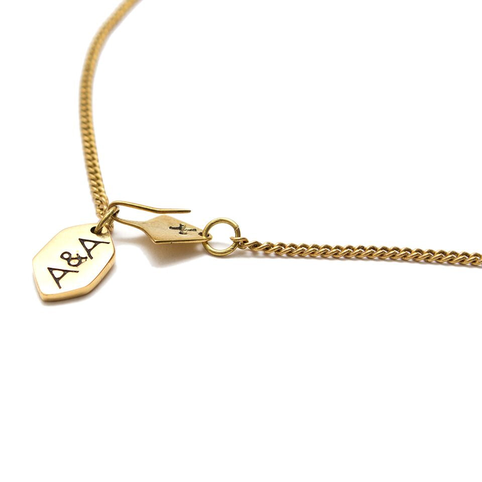 Artisans & Adventurers Hand Cast Ethical Recycled Brass Solstice Short Charm Necklace