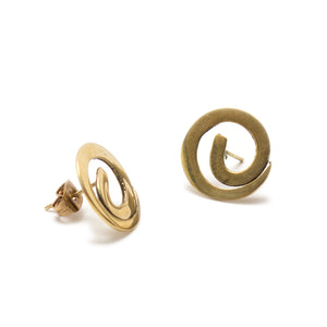 Artisans & Adventurers gold-toned brass stud earrings