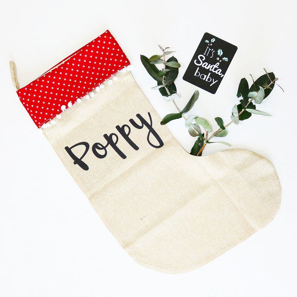 Santa Sack - Stars Christmas Stocking