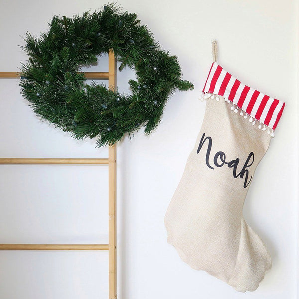 Santa Sack - Stripes Christmas Stocking
