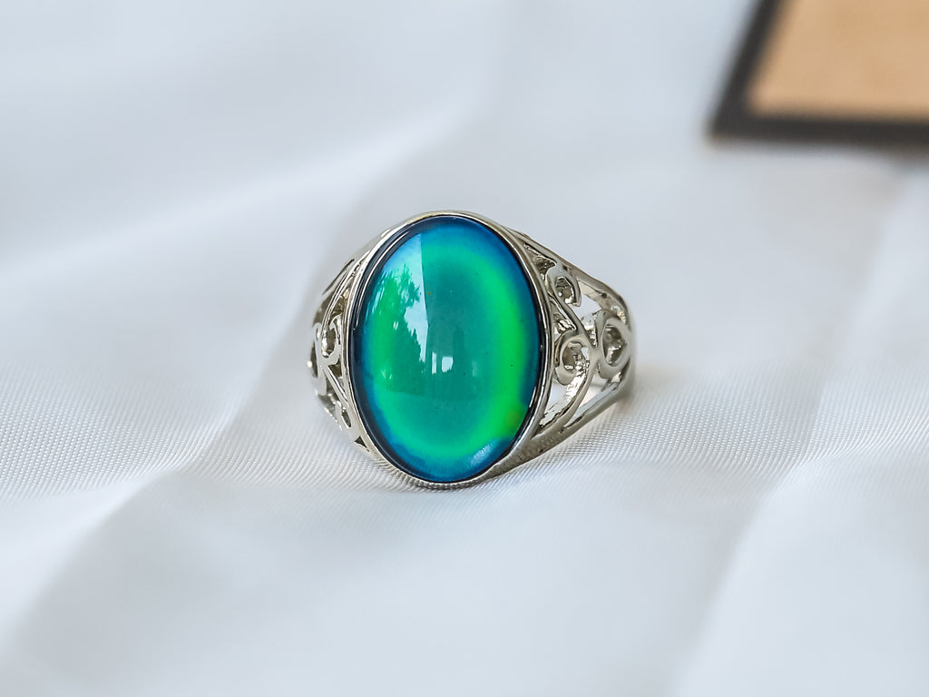 Limited Edition Oval Stone Mood Ring + Canvas Gift Bag - Mitpaw