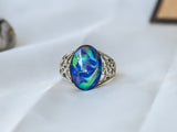 Limited Edition Borderless Opalescent Oval Stone Mood Ring + Canvas Gift Bag - Mitpaw