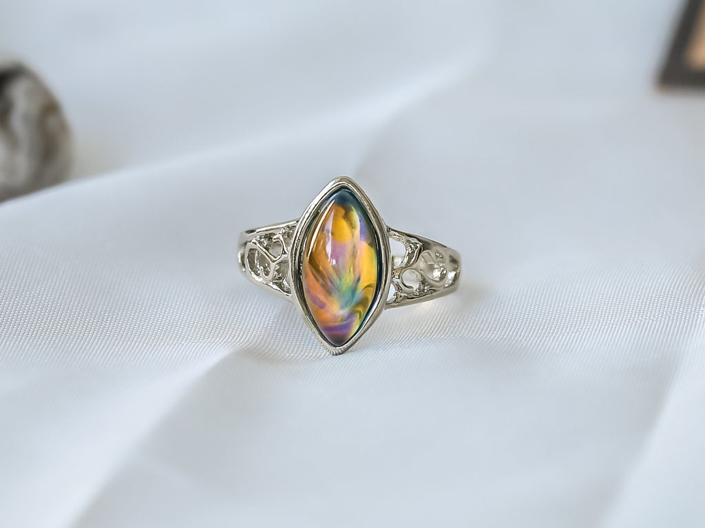Limited Edition Opalescent Horses Eye Stone Mood Ring + Canvas Gift Bag