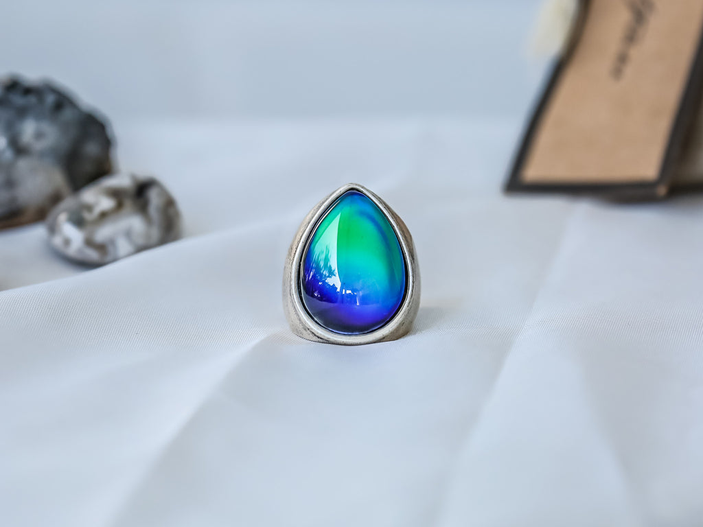Bohemian Eye Drop Shaped Mood Ring - Mitpaw