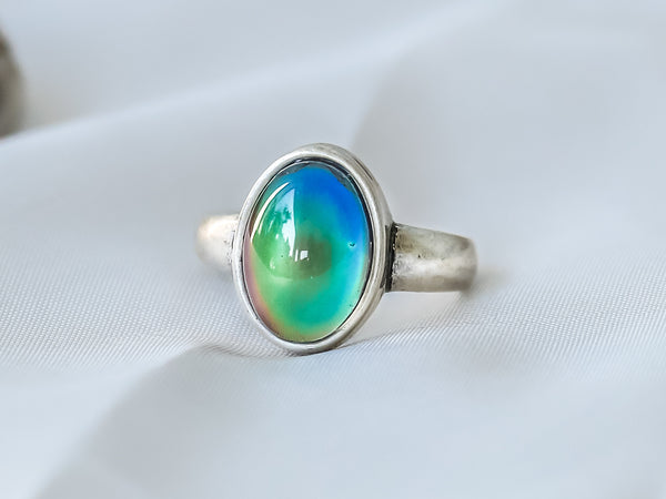Bohemian Oval Shaped Mood Ring