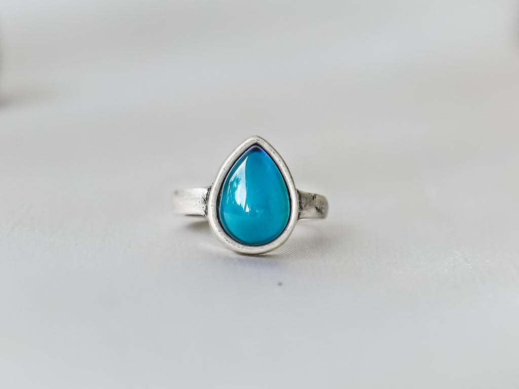Bohemian Water Drop Shaped Mood Ring