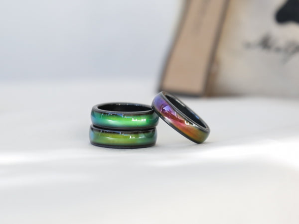 3x Amazing Hematite Magnetic Mood Rings