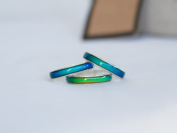 5x Amazingly Thin Colour Changing Mood Rings