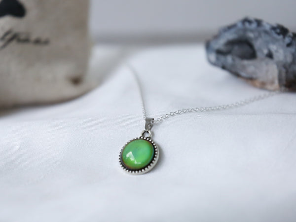 Tree Circle Colour Changing Necklace with 925 Silver Chain