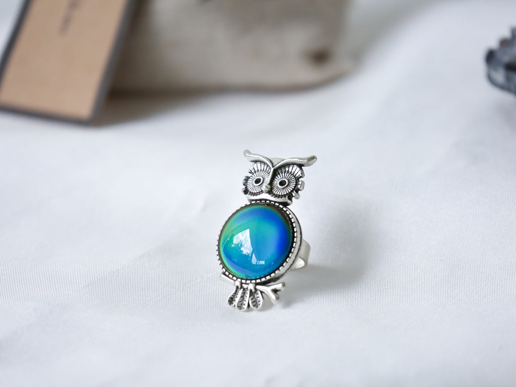 Owl Mood Ring with Iconic Features - Mitpaw