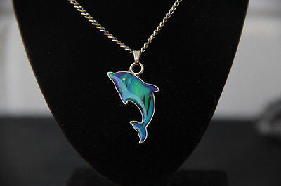 Beautiful Opalescent Dolphin Colour Changing Necklace + Free Gift Bag !! - Mitpaw