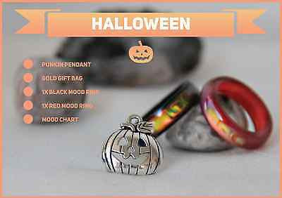 Halloween Special Genuine Black & Red Agate Colour Changing Mood Rings !! + More - Mitpaw