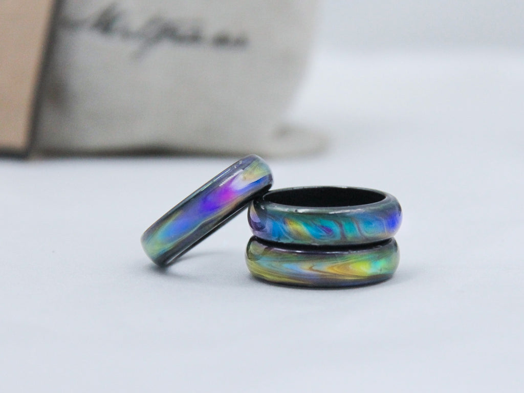 Opalescent Magnetic Hematite Mood Ring - Mitpaw