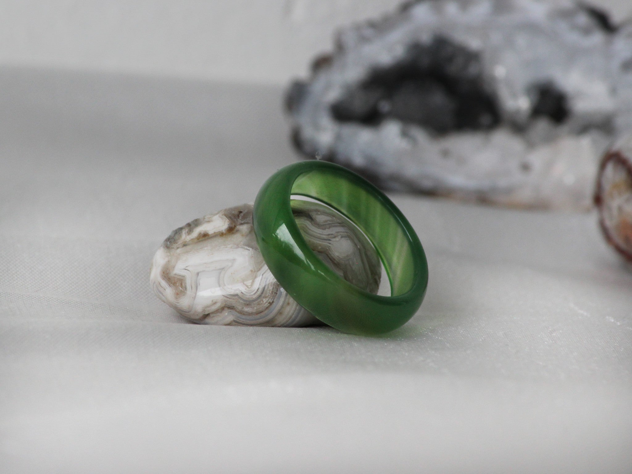 product wedding cape cod plume adorn agate ring seaweed mg rings