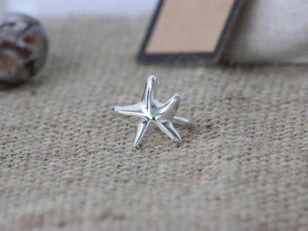 925 Sterling Silver Sea Star Inspired Ring