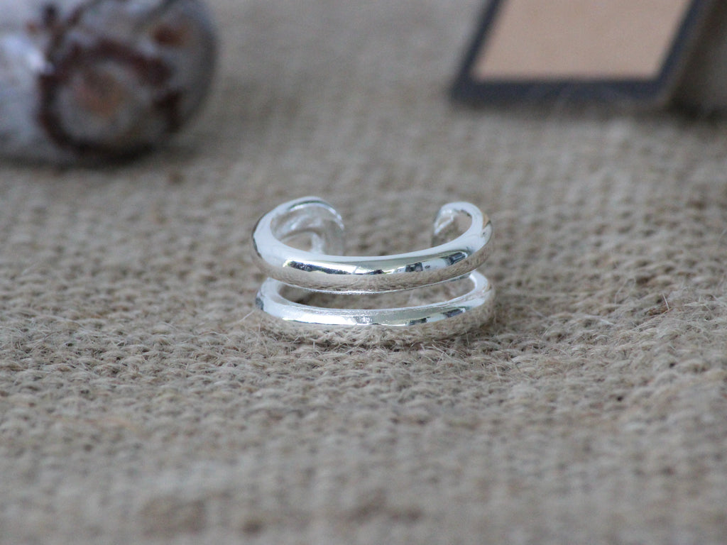 925 Sterling Silver Layered Inspired Ring - Mitpaw
