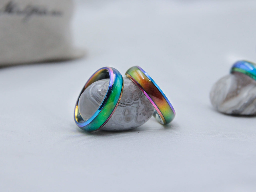 Rainbow Stainless Steel Mood Ring