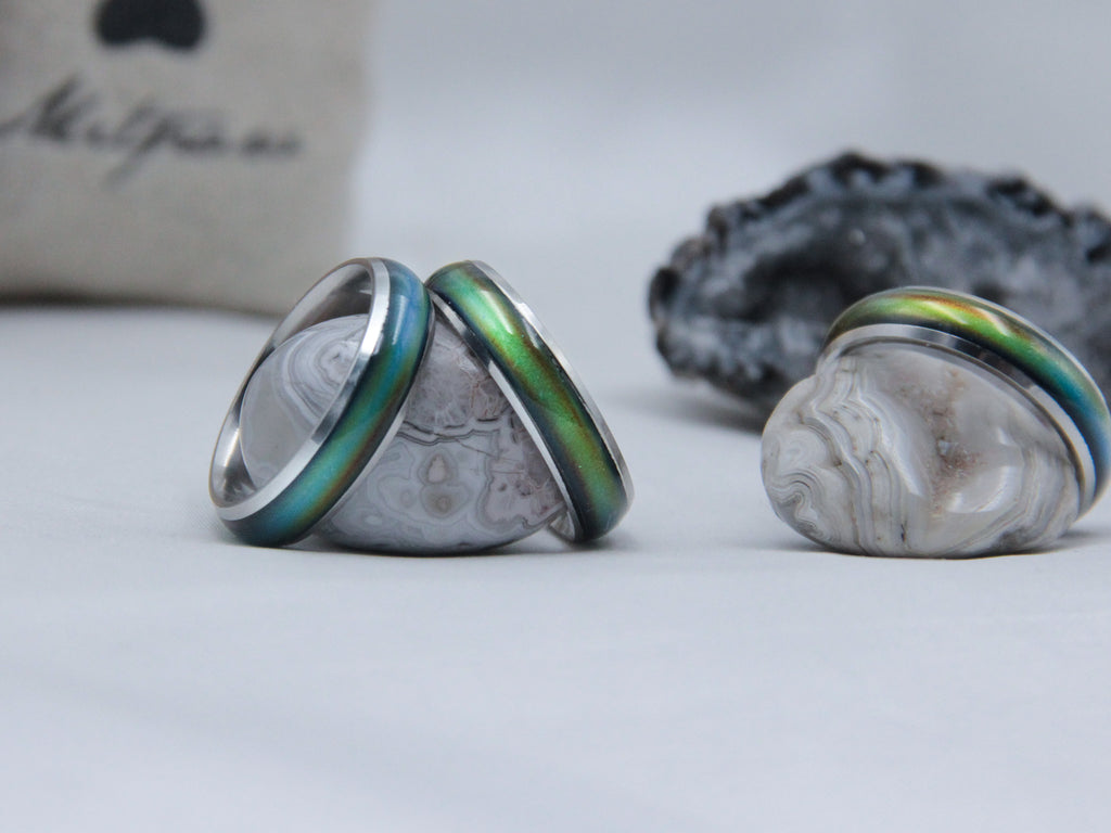 Silver Stainless Steel Mood Ring