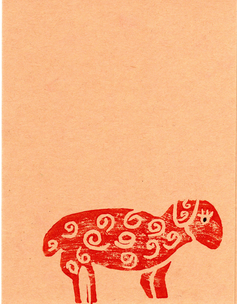 Single Sheep Blank Note Card