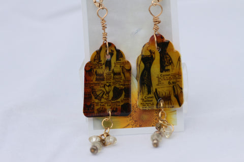 French Advertisement Earrings
