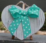 White Wood Heart Wall Hanging