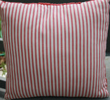 Red and White Quilt top Pillow