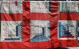 "60""X70"" Red, White & Blue Quilt Top"