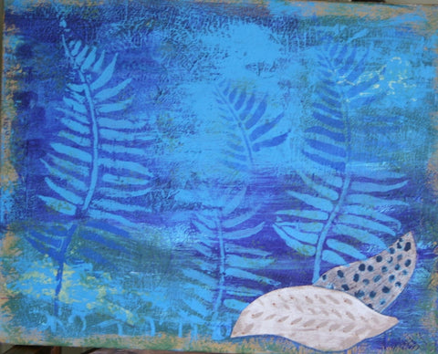 Sea Life Mixed Media Canvas