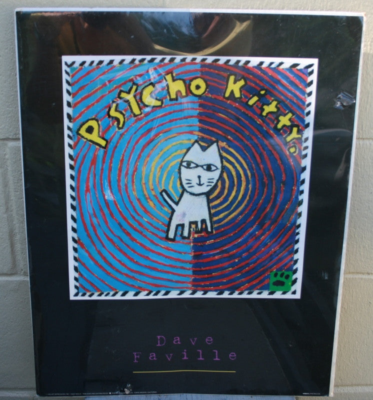 Psycho Kitty Poster by Dave Faville