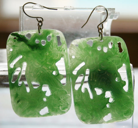 Faux Jade Earrings