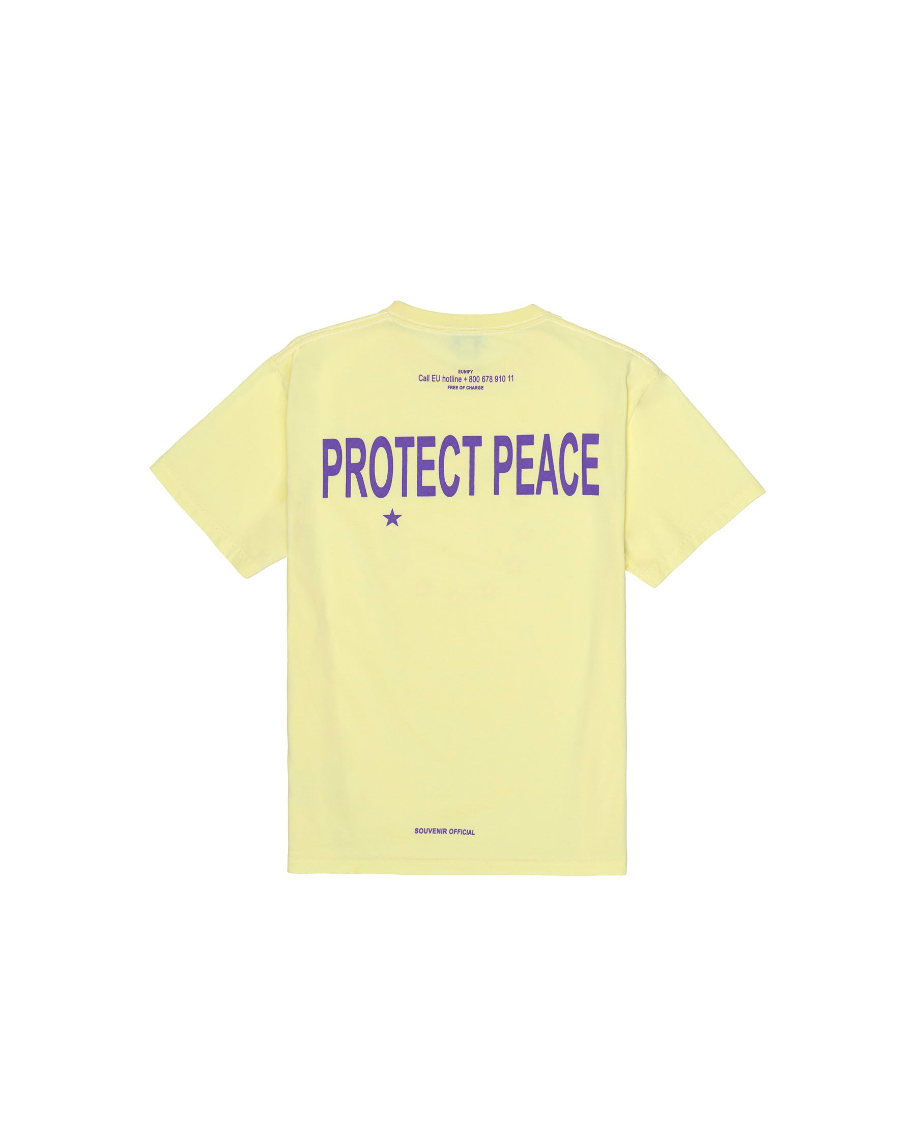 PROTECT PEACE T-SHIRT PASTEL YELLOW