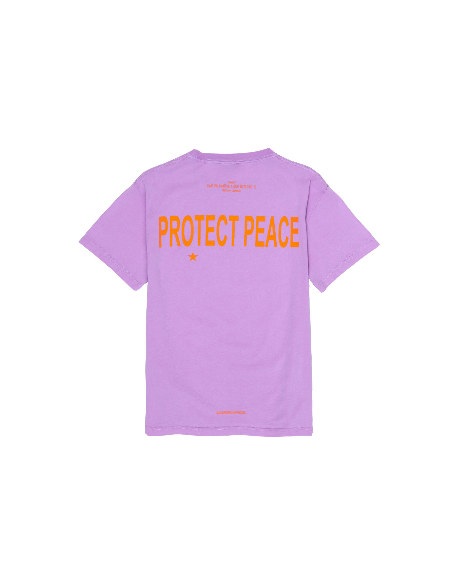PROTECT PEACE T-SHIRT LILAC