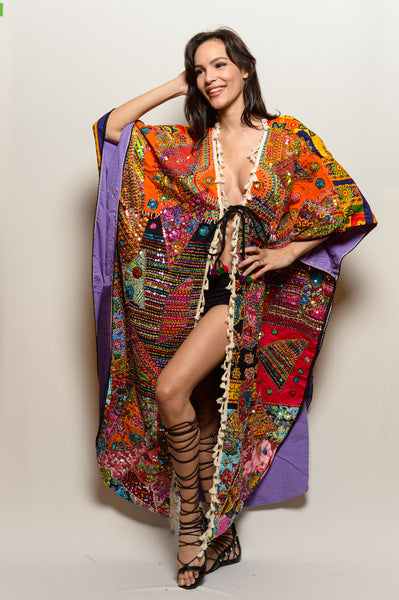 One of a Kind Hand Embroidered Unisex Queen's Dream Coat*** - FESTIVALUNIVERSE