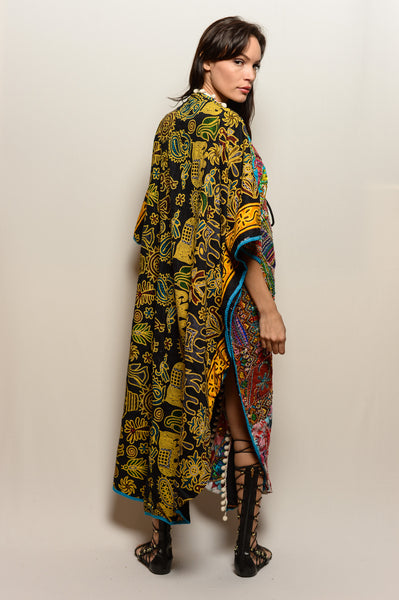 One of a Kind Hand Embroidered Unisex Queen's Dream Coat - FESTIVALUNIVERSE