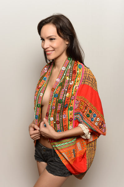 One of a Kind Red Pharaoh Cosmic Shawl - FESTIVALUNIVERSE