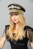 One of a Kind Admiral Hat with Rhinestones